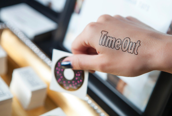 time out party donut los angeles flash tattoo gold ink tattoo