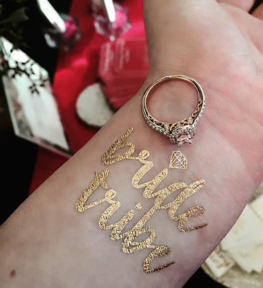 bride trive metallic temporary tattoo