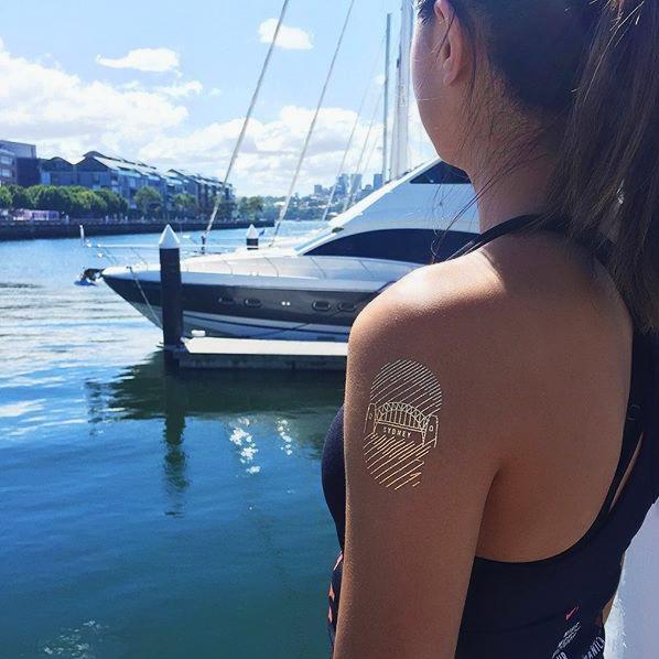 nike training club custom metallic gold temporary flash tattoos sydney australia