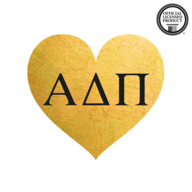 alpha delta pi temporary tattoo for sorority, greek heart tattoo