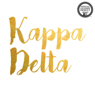Kappa Delta Brush Letters temporary flash tattoo for greek sorority
