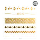 Alpha Phi custom metallic temporary flash tattoos for greek sorority