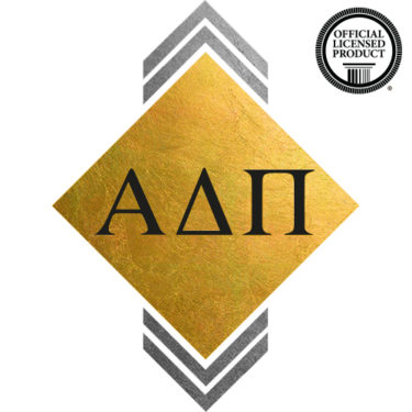 Alpha Delta Pi custom metallic temporary flash tattoos for greek sorority