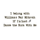 Bar Bat Mitzvah 13th birthday Personalized Custom Metallic Temporary Flash Tattoos if i'm lost dance the Hora with me