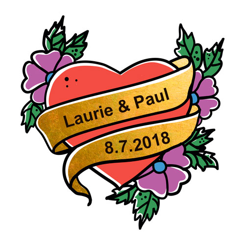 wedding custom temporary flash tattoos
