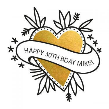 birthday party custom temporary flash tattoos