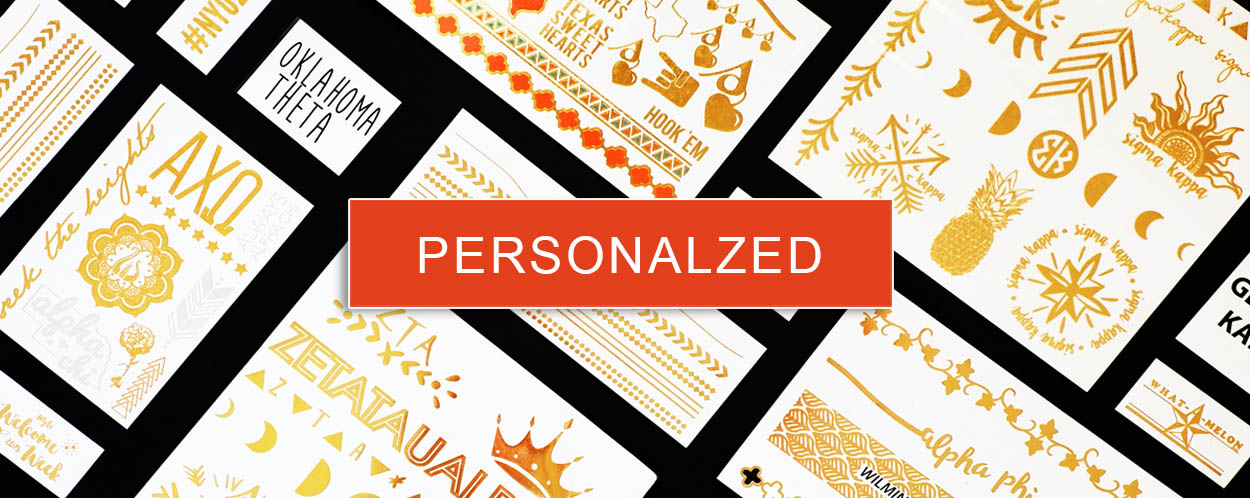 personalized metallic temporary tattoos in a flash
