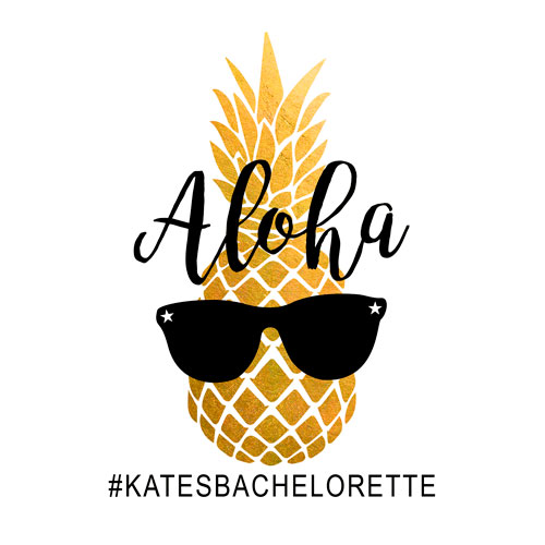 bachelorette custom temporary flash tattoos