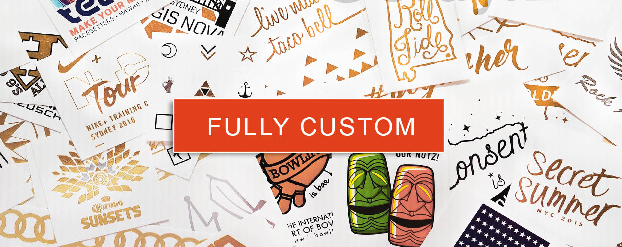 fully customized flash tattoos