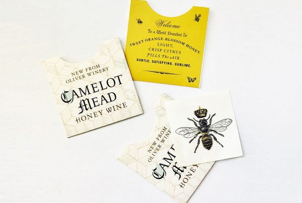 camelot mead wine from oliver winery flash temporary gold tattoos