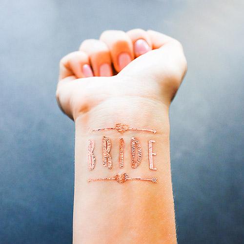 rose gold custom metallic temporary tattoos