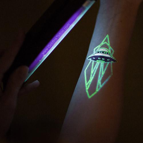 custom glow in dark neon temporary tattoos