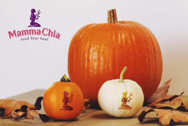 Mamma Chia Halloween Pumkin Decoration with gold Metallic Temporary Tattoos